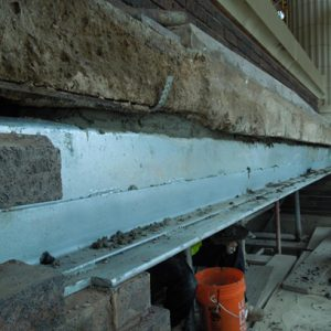 Installation of new stainless steel lintel