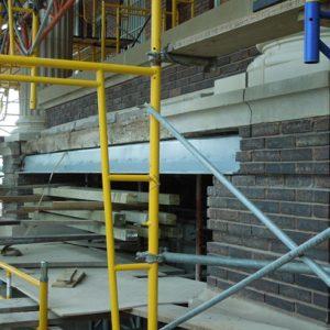 Removal of deteriorating steel lintel