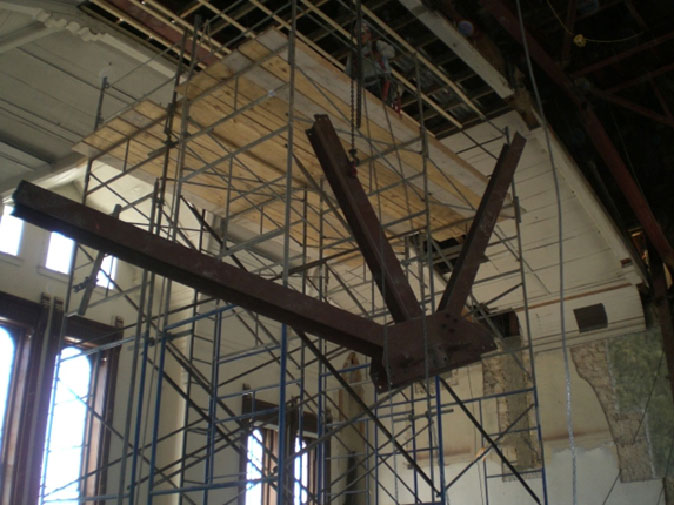 Removal of Previouly Retrofited Structural Steel
